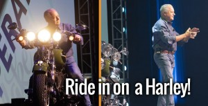 have your CEO ride in on a Harley!